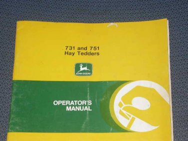 JD John Deere 731 & 751 Hay Tedders Operators Manual