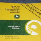 JD John Deere 9000 3&4-Drill Hitch Operators Manual