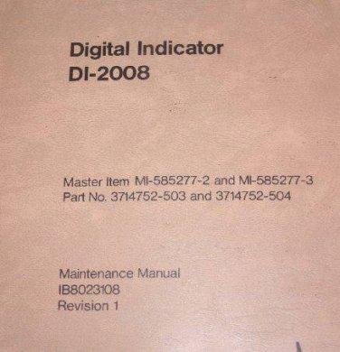 Sperry Di-2008 Digital Indicator Component Maintenance Manual ib8023108