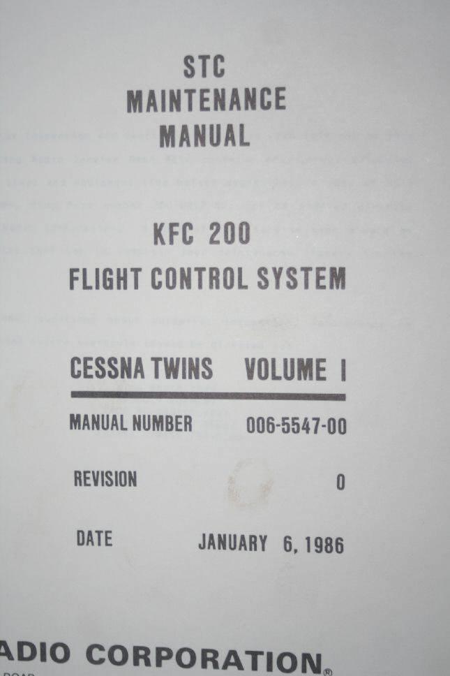 Kfc 200 Maintenance Manual