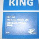 Allied Bendix King KCU-561 Digital NAV Control unit maintenance manual KCU561