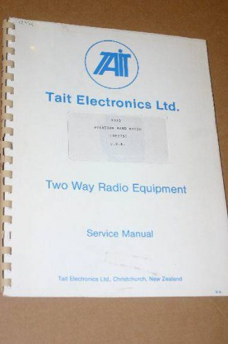Tait T373 Aviation band radio Service Repair manual