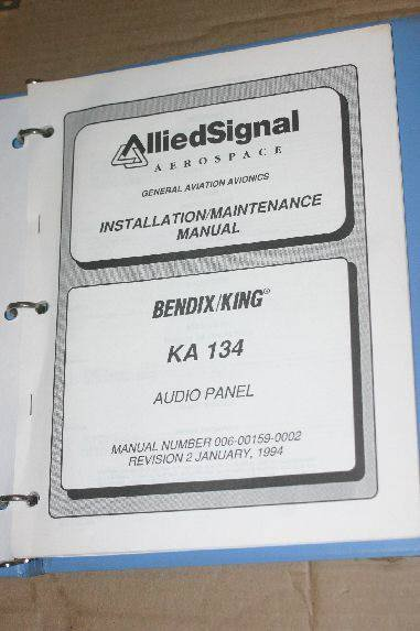 bendix king ka134 audio panel maintenanceoverhaul manual