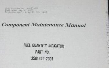 Allied Bendix Fuel quantity Indicator 3581320-2001 Component Manual