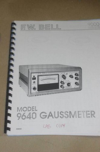 FW F.w Bell 9640 Gaussmeter 9600  Instruction Operating Guide Users Manual