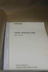 Siemens Level Tracer K2001 200-4000Hz Technical manual