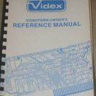 Videx videoterm Reference Operating Users Guide Technical Manual