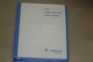 Gould  K20 Logic analyzer Instruction Operating User's Guide Manual