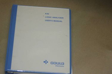 Gould  K40 Logic analyzer Instruction Operating User's Guide Manual