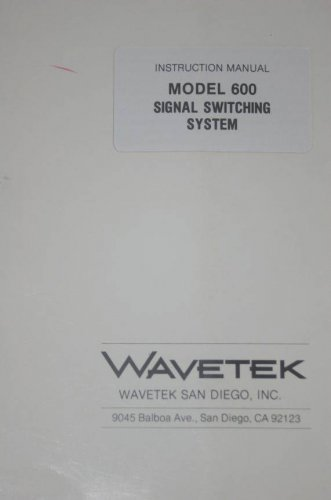 Wavetek 600 Signal Switching Switcher Instruction Operation Manual