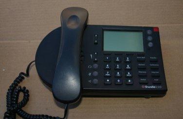 Shoretel IP230 VOIP BLACK DISPLAY Phone SEV 230 IP 10 no base stand