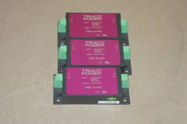 Lot of 3 Traco TPM 15124C 24V DC 0.6A Power Supplies TPM15124C
