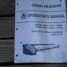 Agco 700 700c 800,800c Grain Header Operators Manual