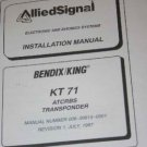 Bendix King KT71 ATCRBS Transponder Installation Manual KT-71 XPDR