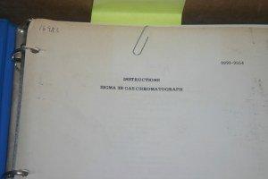 Perkin Elmer Sigma 3B Gas Chromatograph Users Guide Instructions Manual