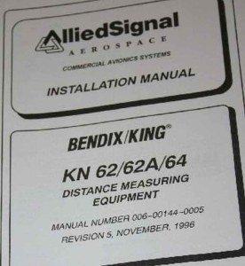 Bendix King KN62/KN64/KN62A DME Receiver Installation Manual