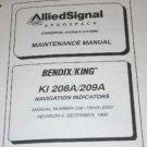 Bendix King ASCAS KI-208A/209A NAV Indicators Maintenance manual KI208A/KI209A