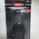 "BRAND NEW RadioShack Gold-Plated Y-Adapter, 1/4"" Jacks to 1/8"" Plug 274-888"
