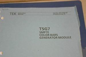 TEK TSG7  NTSC Linearity Test Signal Generator  Instruction Manual