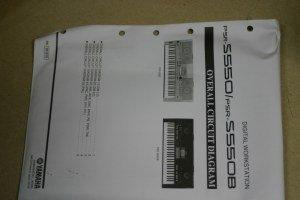 Yamaha PRS-S550/PRS-S550B Digital Workstation Overall Circuit Diagram