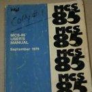 Intel MCS-85 8085A CPU Family Processor User's Manual Guide 9/1978 9800366E