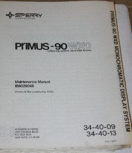 Honeywell Sperry Primus-90 WXD Weather Radar Component Repair manual IB8029065