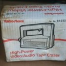 REALISTIC RS 44-233A AUDIO,VIDEO,FLOPPY,REEL,CASSETTE TAPE ERASER RADIO SHACK