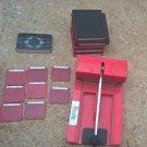 Sizzix Original Red Die Cut Machine Shadow Box Alphabet Number Sets Lot w/dies