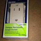 Leviton T5280-T 15 Amp, 125 Volt, Tamper Resistant, Decora Duplex Surge Light Al