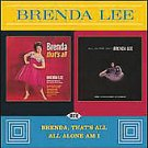 Brenda Lee 2 Albums 1 CD Thats All & All Alone Am I LIKE NEW 2006 ACE