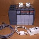 AB Allen Bradley SLC500 PLC+UIC CABLE 1746-A4 Rack+OA8, IA8, IA4, P1 Power ,1747
