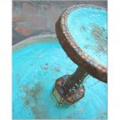 Blue Water Fountain 8x10 photo