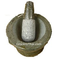 Thai Granite Mortar and Pestle 8 ""