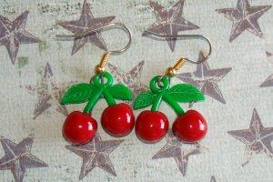 Cute Twin Cherry Earrings