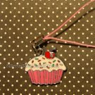 Cute metal CUPCAKE cellphone charm