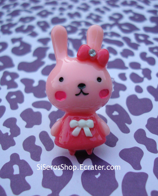 Summer Dress PINK Bunny Ring