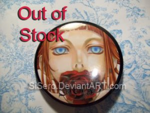 2.25 inch. Rose Button