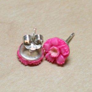 Hot Pink Wildflower Earrings