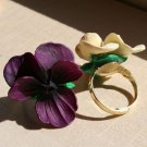 Pansy Ring - Purple