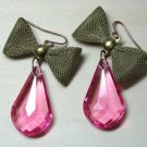 Vintage Bow Dangle Earrings