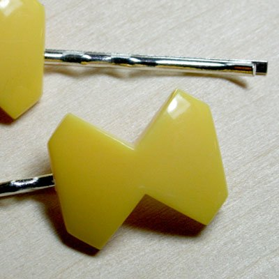 Mellow Yellow Deco Bow Hair Clips