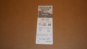 BOSTON RED SOX Fenway Park 100 Year Anniversary 2012: 2 Game Day, 1 Tour - Excellent Condition