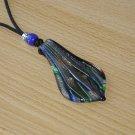 Lampwork Leaf Pendant Nursing Necklace