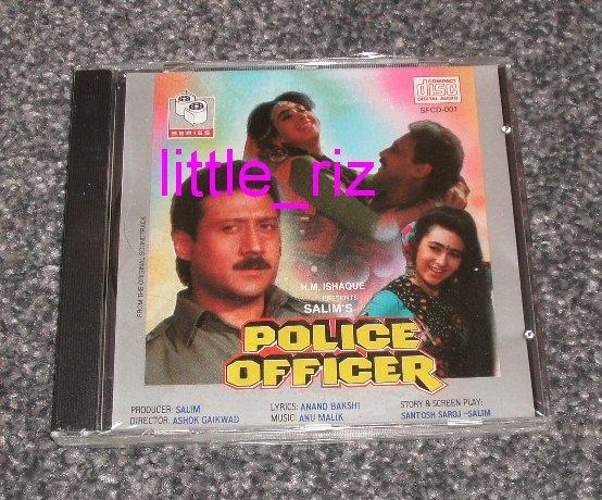 **POLICE OFFICER** 1992 Jackie Shroff Anu Malik Bollywood/Indian Soundtrack CD