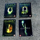 4 Alien DVDs - Region 2 Europe DVDs - Alien, Aliens, Alien 3, Resurrection