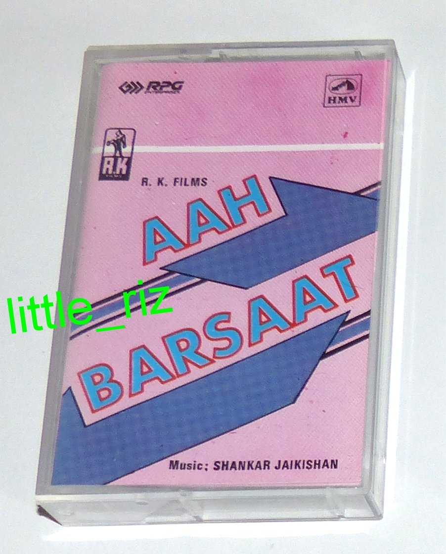 Aah (1953) / Barsaat (1949) � Bollywood Indian Soundtrack Cassette Tape HMV Shankar Jaikishan