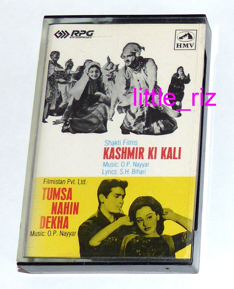 Kashmir Ki Kali (1964) / Tumsa Nahin Dekha (1957) � Bollywood Indian Cassette Tape O.P. Nayyar