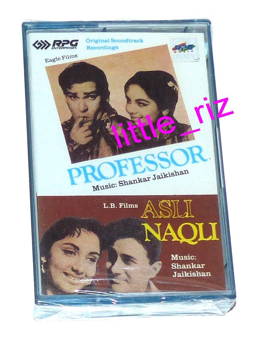 Professor / Asli Naqli (1962 films) � Bollywood Indian Cassette Tape Shankar Jaikishan