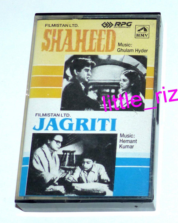 Shaheed (1948) / Jagriti (1956) � Bollywood Indian Cassette Tape Ghulam Hyder, Hemant Kumar