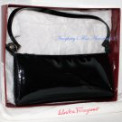 Vintage Salvatore Ferragamo Nero Patent Calf Evening Bag from Italy